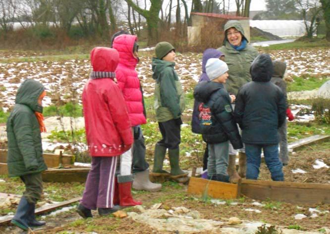 L'art au jardin, atelier Hiver, janvier 2013
